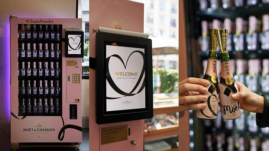 French champagne brand Moet & Chandon released a vending machine that dispenses a personal serving size of their bubbly.